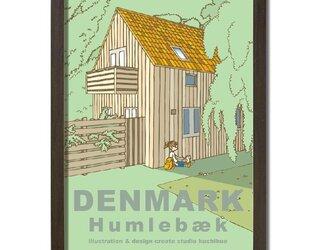 ポスターA3サイズ 道の途中で(デンマーク・フムレベック)の画像