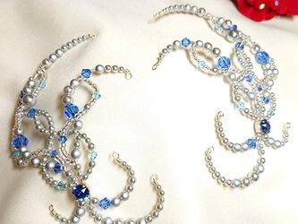 ☆バレエ サイドパーツ シルバー×ブルー フロリナ・ブルーバード☆の画像