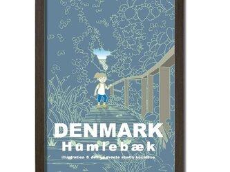 ポスターA3サイズ 美術館の森(デンマーク・フムレベック)の画像