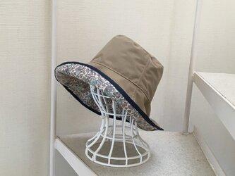 リバティ雨帽子 リバーシブルレインハット 59の画像