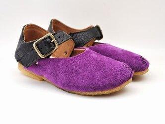 #Tokuyama Shoes:『plie buckle-shoes』purple x blackの画像