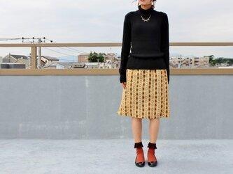 着物リメイク・銘仙の毎日スカート(秋色・M)の画像