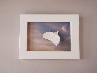 磁器 紙ひこうき(夕暮れ)の画像