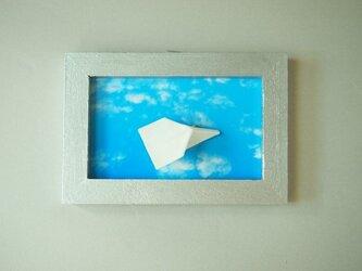 磁器 紙ひこうき(青空)の画像