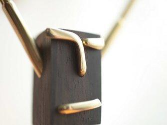 0040「黒檀+真鍮」ひとこと mokujiiの画像