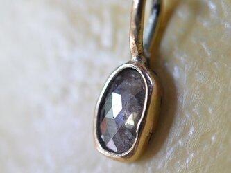 ローズカット・ダイヤモンド・10kゴールドペンダント(天然ブラウンカラー)の画像