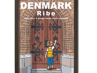 ポスターA3サイズ 大聖堂の扉(デンマーク・リーベ)の画像