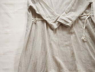 wool gauze onepiece <Light grey>の画像