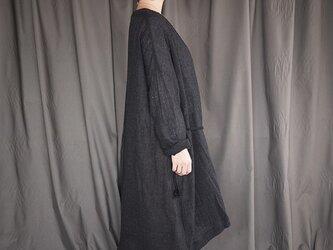 wool gauze onepiece <darkdark gray>の画像
