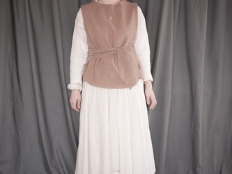 compress wool vest <orange beige>の画像