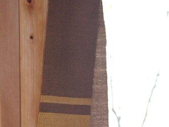 ウールミニマフラー 草木染め(くるみ&玉ねぎ)手織りの画像