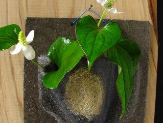 陶器 花器 黒金彩角形掛け花 陶芸家オリジナル(40)の画像