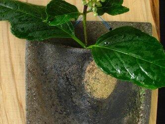 陶器 花器 黒金彩角形掛け花 陶芸家オリジナル(41)の画像