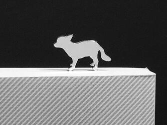 Dog-BookMark-25 チワワ シルバーブックマーク しおりの画像