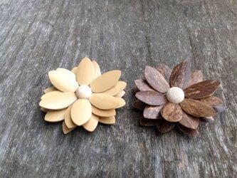 竹の温もり~花マグネット2個セットの画像