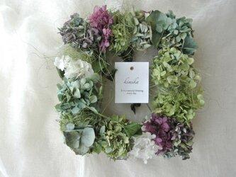 紫陽花のframe-wreath.fresh greenの画像