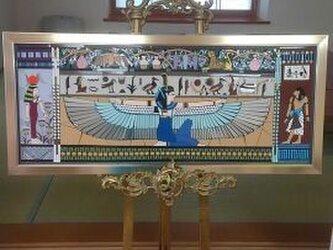 エジプト壁画をタイルモザイクで!の画像