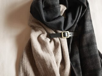 three cloth leathrbelt stole <16aw-a>の画像
