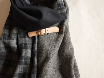 three cloth leathrbelt stole <16aw-c>の画像