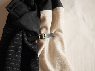 three cloth leathrbelt stole <16aw-e>の画像