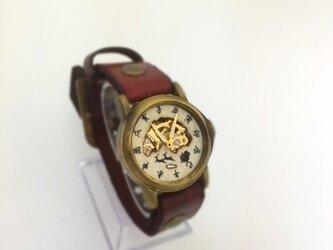 サンタクロースの和時計の画像
