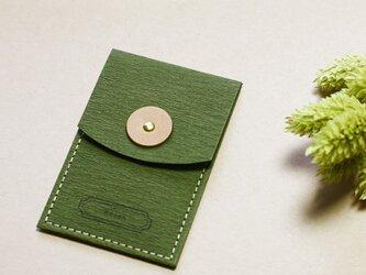 Relax モースグリーン ) 気持ちを伝える 小さな 本革付 封筒の画像