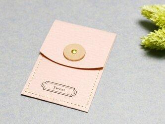 Sweet 桜) 気持ちを伝える 小さな 本革付 封筒の画像