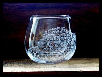 グラス--紫陽花の画像
