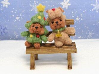 ハッピークリスマス!ツリーコグマさんとトナカイコグマさんの仲良しツーショットの画像