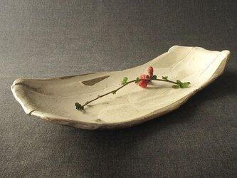 【送料無料】食器 焼締め白化粧長形大皿 陶芸家オリジナル陶器(68)の画像