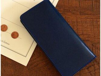 *栃木レザーの2つ折り長財布 ロングウォレットの画像