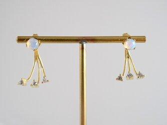 STONE Opal pierce +Back catch zirconiaの画像
