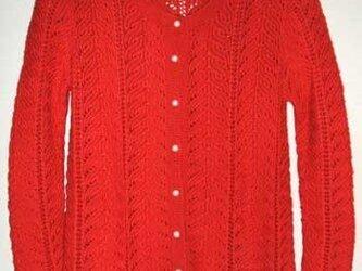 赤のレィシーカーディガン3(送料無料)の画像
