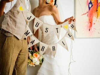 Just Married ガーランド/バナーの画像