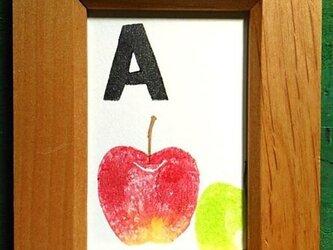 アルファベット ミニ額 【A】Aplleの画像