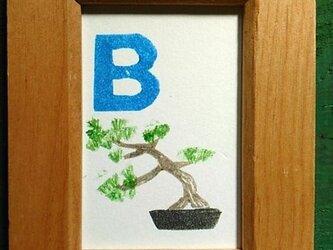 アルファベットカード ミニ額 【B】Bonsaiの画像