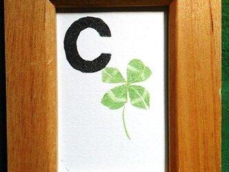 アルファベットカード ミニ額 【C】Cloverの画像