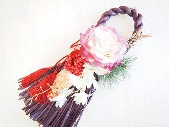 大輪ローズのお正月飾り*ループG1608の画像