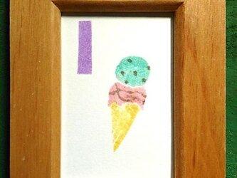 アルファベットカード ミニ額 【I】Icecreamの画像