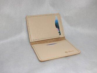 ヌメ革 手縫いパスケース(定期券サイズ対応)の画像