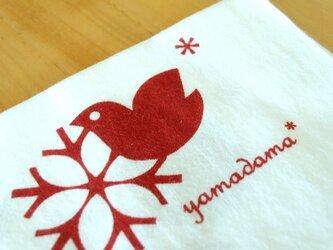 鳥柄の捺染てぬぐい yamadama *オリジナルの画像