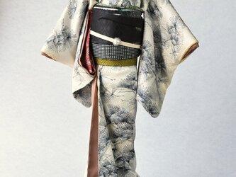 「matsu緑」粋coolこべべ /リメイク着物の画像