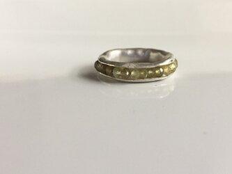 Hold Ring * silver type  /green garnet/#11〜#12の画像