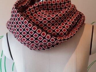 シャドードビー*ウール織物***ねじりスヌードの画像