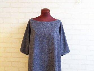 ☆ 作品紹介 ジャズネップ起毛裾ラウンドトップス ブルーの画像