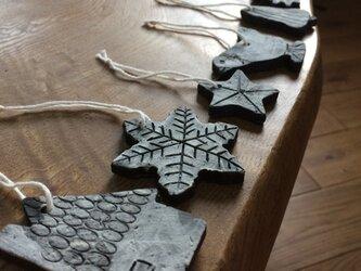 【SOLD OUT】陶器のクリスマスオーナメント7点セットの画像