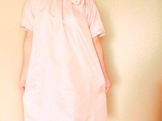 ♡ブローチ付きチュニックワンピース♡着物リメイクの画像