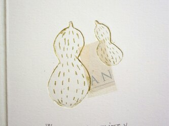 銅版画カード・ピーナッツの画像