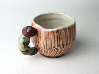 可愛い虫のマグカップ/陶器/陶芸家/可愛い子ども食器/子供マグ /cute ceramicの画像