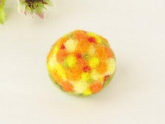 フェルトのブローチ オレンジのブーケ  (FAB-002-O)の画像